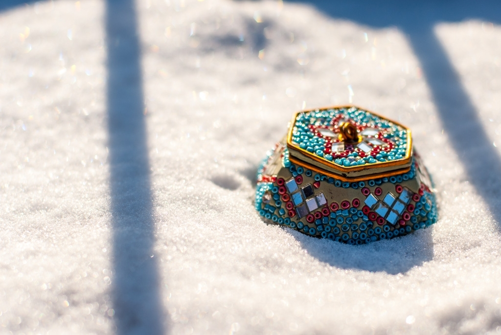 wee box in the snow